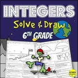 6th Grade Integers and Absolute Value Solve & Draw