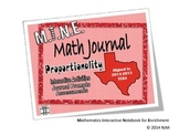 6th Grade Math TEKS Proportionality Interactive Notebook Bundle