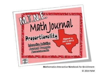 6th Grade Math TEKS Proportionality Interactive Notebook Bundle