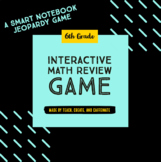 6th Grade Interactive Math Review Game