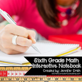 Sixth Grade Math Interactive Notebook Bundle- All Standards