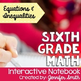 Sixth Grade Math Equations & Inequalities Interactive Notebook Unit