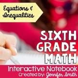 Sixth Grade Math Equations & Inequalities Interactive Note