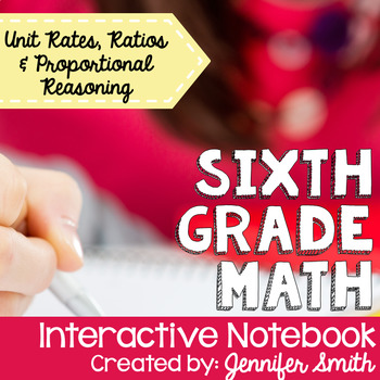 Sixth Grade Math Ratios and Proportional Reasoning Interactive Notebook Unit