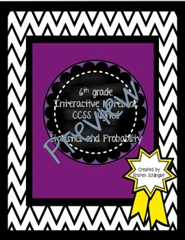 6th Grade Interactive Notebook Statistics and Probability
