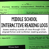 Middle School Interactive Reading Log {Common Core Aligned}