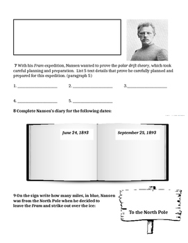"""6th Grade Interactive Reading Packet: Reading Street """"Into the Ice"""""""