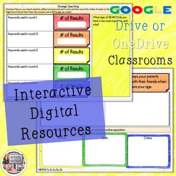 6th Grade Internet Safety Digital Interactive Notebook