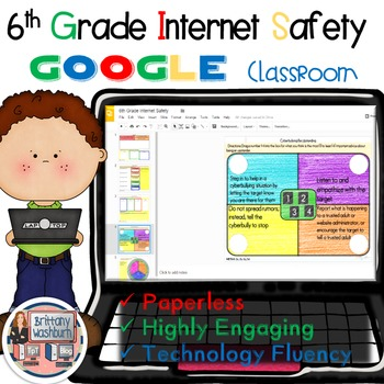 6th Grade Internet Safety Digital Interactive Notebook