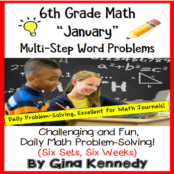 6th Grade January Daily Problem Solving: Math Challenge Problems (Multi-Step)