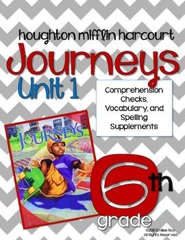 6th Grade Journey's Supplements {CCSS} Unit 1  2014 Ed.
