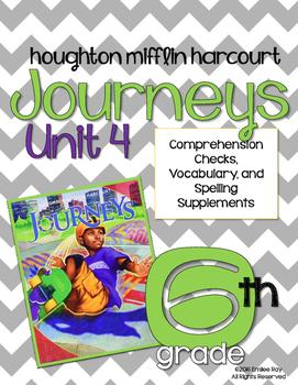 6th Grade Journey's Supplements {CCSS} Unit 4 2014 Ed.