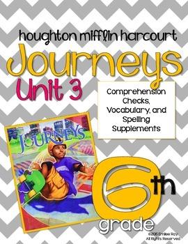 6th Grade Journeys Supplements {CCSS} Unit 3 2014 Ed.