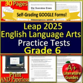 6th Grade LEAP 2025 Test Prep - Practice Tests - English Language Arts