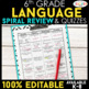 6th Grade Language Arts BUNDLE | Spiral Review, Games & Assessments ENTIRE YEAR