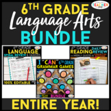 6th Grade Language Arts BUNDLE | Spiral Review, Games & As