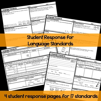 6th Grade Language Graphic Organizers for Common Core