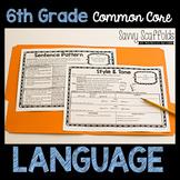 6th Grade Language Graphic Organizers for Common Core