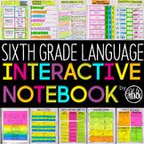 6th Grade Language Interactive Notebook  Grammar Interactive Notebook