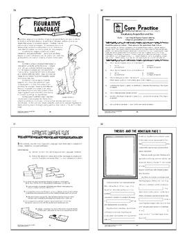 6th Grade LANGUAGE INTERACTIVE Unit–Grammar Posters, 8 6th Grade Grammar Lessons