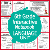 6th Grade Language Interactive Unit – Common Core Posters, 8 Grammar Lessons