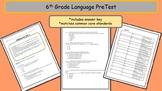 6th Grade Language PreTest - A