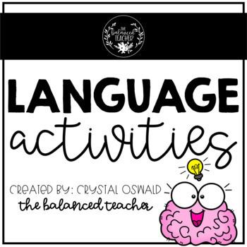 6th Grade Language (bundle)