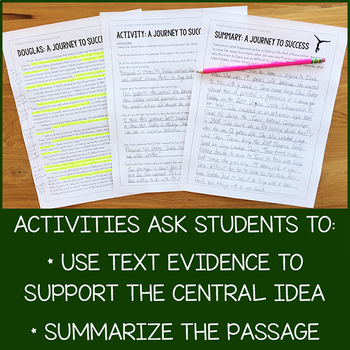 6th Grade Lesson Pack for RI.6.2 (Central Idea and Summary)