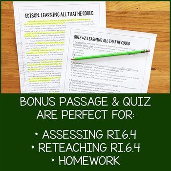 6th Grade Lesson Pack for RI.6.4 (Determine the Meaning of Words and Phrases)