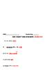6th Grade Level Review Worksheet #2 Integers, Decimals, Fractions
