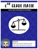 6th Grade Leveled Math-Ratios & Proportional Relationships
