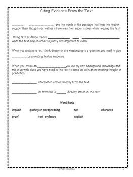 6th Grade Literature Common Core Interactive Notebook Freebie!