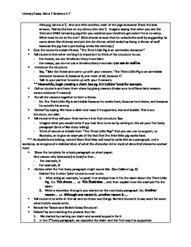 6th Grade Lucy Calkins Literary Essay Writing Unit Bend 1 'Cheat Sheets'