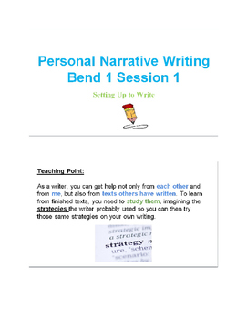 6th Grade Lucy Calkins Narrative Writing Unit Bundle
