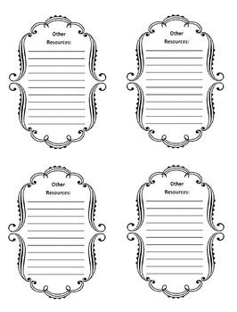 6th Grade Common Core File Labels