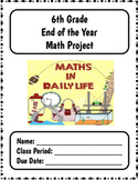 6th Grade MATH End of Year Summative Project + Distance Learning