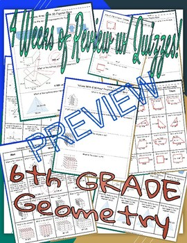 6th Grade MATH Spiral Weekly Review (Geometry)