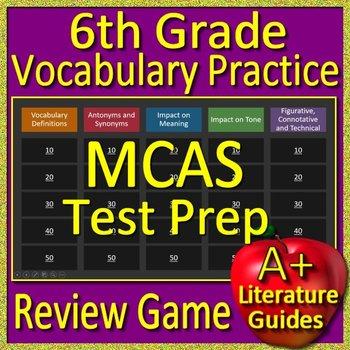 6th Grade MCAS Test Prep Vocabulary Practice Review Game