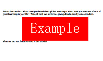 6th Grade Making Meaning: Unit 7 Global Warming Assignment