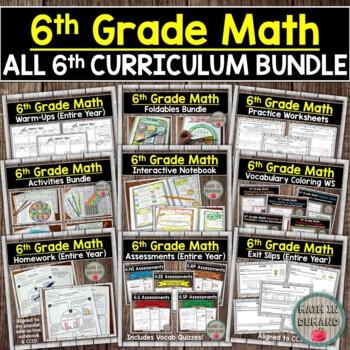 6th Grade Math Curriculum Bundle (Entire Year)