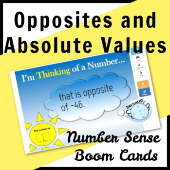 Numbers, Opposites and Absolute Values