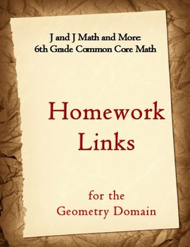 6th Grade Math: 6.G.1-6.G.4:  Internet Links to Free Geome