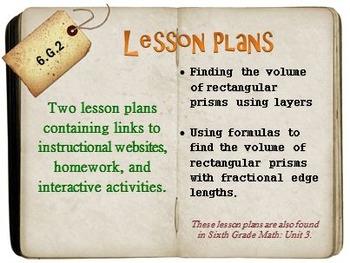 6th Grade Math:  6.G.2:  Two Lesson Plans