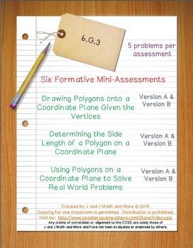 6th Grade Math:  6.G.3 Mini-Assessments