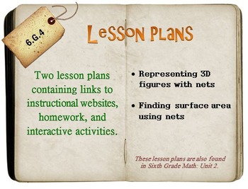6th Grade Math:  6.G.4:  Two Lesson Plans