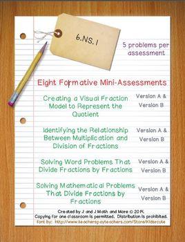6th Grade Math:  6.NS.1 Mini-Assessments