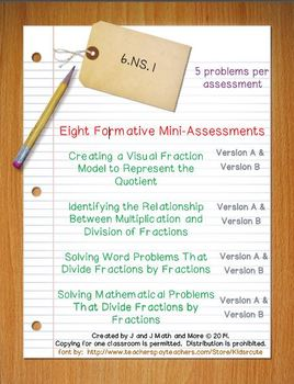 6th Grade Math:  6.NS.1 Mini-Assessments