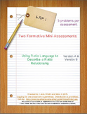 6th Grade Math:  6.RP.1 Mini-Assessments