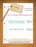 6th Grade Math:  6.RP.2 Mini-Assessments