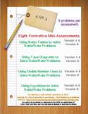 6th Grade Math:  6.RP.3 Mini-Assessments